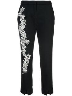 декорированные брюки-дудочки  Dice Kayek