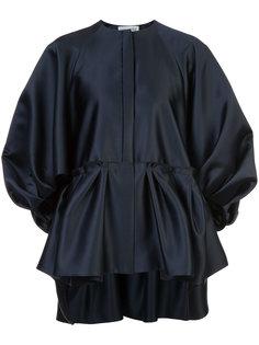 атласная блузка с присборенной отделкой Dice Kayek