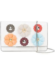 сумка через плечо с нашивками цветов Fendi