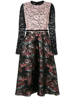 платье с цветочным принтом и кружевными панелями Antonio Marras
