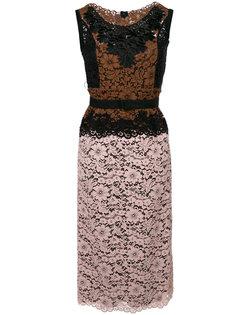платье с контрастными кружевными вставками  Antonio Marras