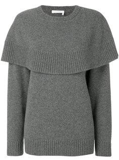 трикотажный свитер с накидкой Chloé