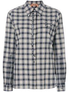 рубашка в клетку с вышивкой и камнями  Nº21