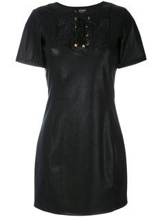 короткое платье со шнуровкой спереди Twin-Set