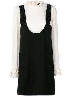 короткое платье с контрастным топом Twin-Set