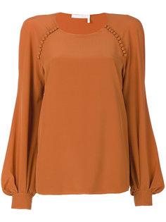 блузка с рукавами-колокол Chloé