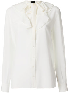 блузка с оборкой на вороте  Joseph