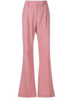 строгие брюки с завышенной талией Prada