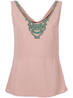 блузка с вышивкой Prada