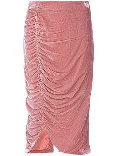 юбка по фигуре из шелка Vivetta