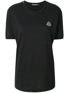 футболка свободного кроя с аппликацией-жуком Dolce & Gabbana