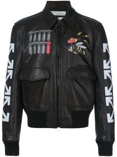 куртка-бомбер с принтом Off-White