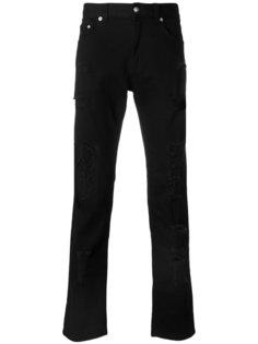 прямые джинсы с эффектом потертости Versus