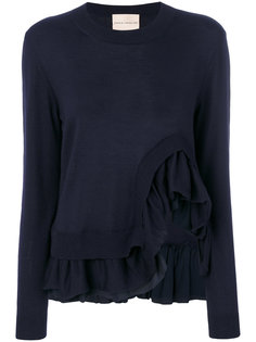 асимметричный свитер с оборками Erika Cavallini