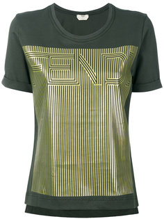 футболка с золотистой деталью Fendi