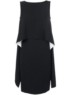 платье с каскадными воланами по бокам Givenchy