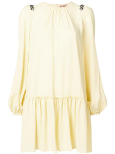 платье с отделкой камнями на плечах  Nº21
