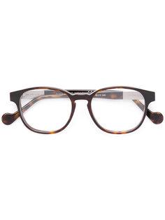 очки в круглой оправе с эффектом черепашьего панциря Moncler