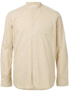 рубашка с воротником-стойкой в полоску  Kent & Curwen