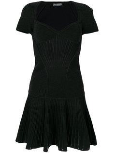 вязаное короткое платье Alexander McQueen