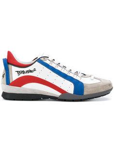 "кроссовки с полосками и логотипом в стиле ""граффити"" Dsquared2"