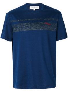 футболка с принтом из логотипов Salvatore Ferragamo