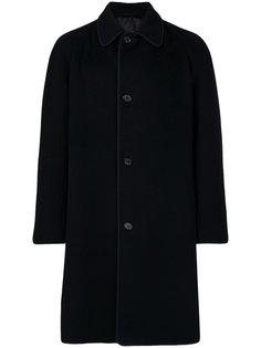 однобортное пальто Alexander McQueen