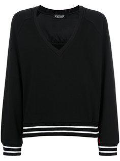 свитер с V-образной горловиной и полосками Twin-Set
