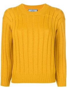 классический свитер узкого кроя Prada