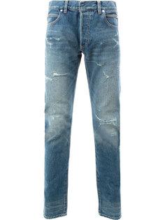 """джинсы """"варенки"""" с порванными деталями Balmain"""