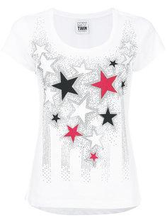 футболка с вырезом-ковшом и звездами Twin-Set
