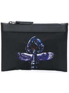 клатч с изображением лобстера с крыльями Lanvin