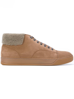 кроссовки с меховой оторочкой Lanvin
