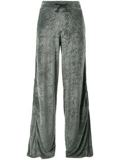 бархатные широкие спортивные брюки Lot78