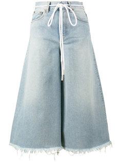 укороченные джинсы с поясом-веревкой Off-White