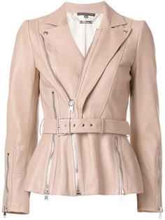 кожаная куртка на молнии Alexander McQueen