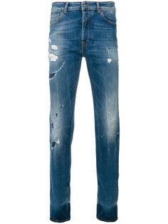 узкие джинсы Mas с эффектом потертости Marcelo Burlon County Of Milan