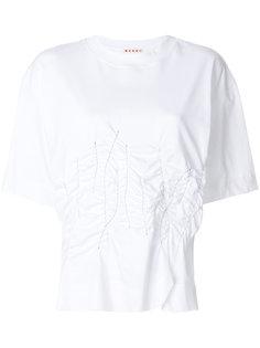 футболка с мятым эффектом  Marni