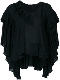 блузка свободного кроя с оборками Emilio Pucci
