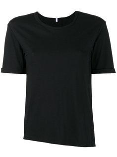 асимметричная футболка с круглым вырезом Lot78