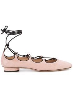балетки на шнуровке Valentino