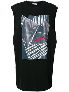 футболка без рукавов с принтом Versus