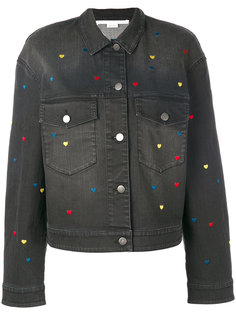 джинсовая куртка с вышитыми сердцами Stella McCartney
