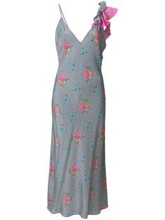 платье с оборками и цветочным принтом Natasha Zinko