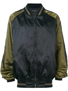 куртка-бомбер с контрастными деталями Yuiki Shimoji