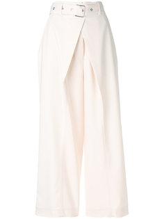 широкие брюки со складками с ремнем Proenza Schouler