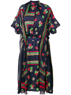 платье с геометрическим принтом Sacai