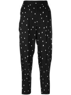укороченные брюки с защипами и узором 3.1 Phillip Lim