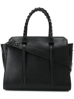 сумка-тоут с двумя ручками с цепочной отделкой Elena Ghisellini