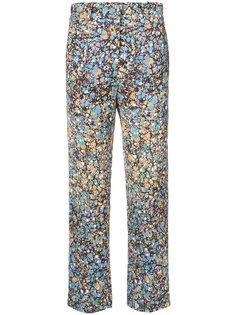 брюки с принтом Victoria Beckham